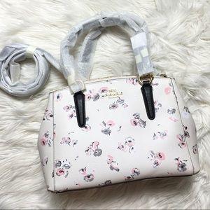 Coach Christi Wildflower Mini Satchel Hand Bag